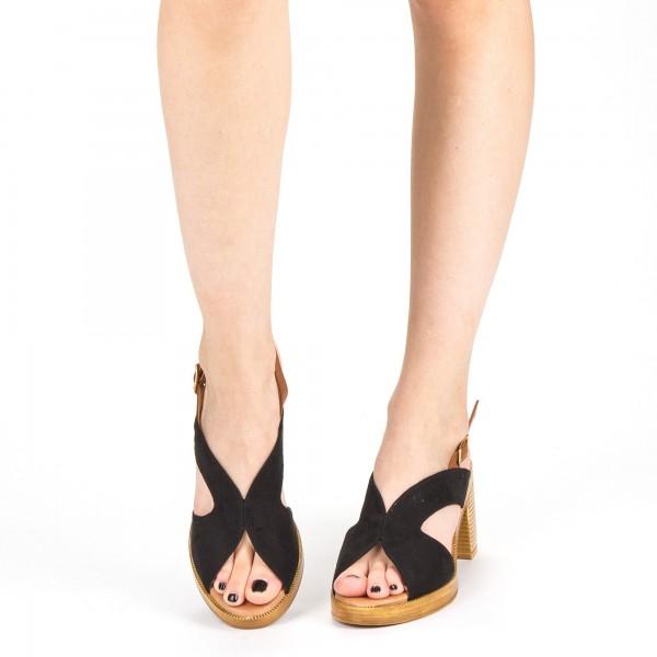 Sandale Dama cu Toc XD225 Black Mei