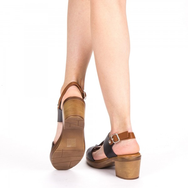 Sandale Dama cu Toc XD223 Black Mei