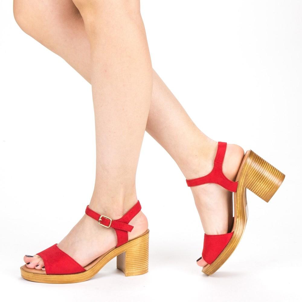 Sandale Dama cu Toc XD222 Red Mei