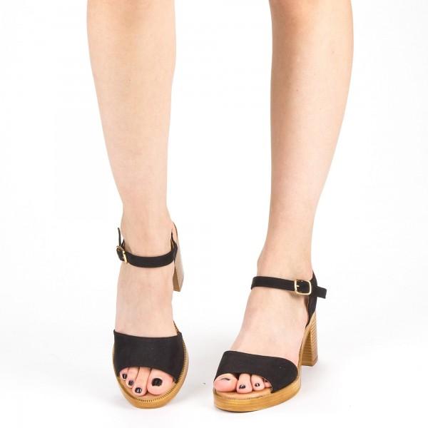 Sandale Dama cu Toc XD222 Black Mei