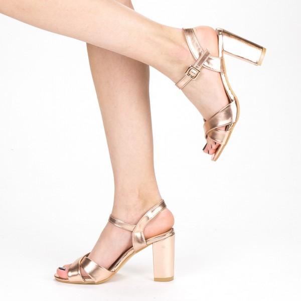 Sandale Dama cu Toc XD209 Champagne Mei
