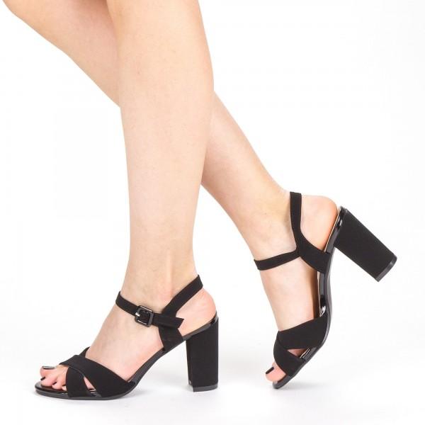 Sandale Dama cu Toc XD209 Black Mei