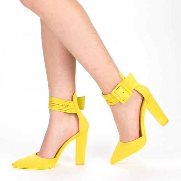 Pantofi cu Toc XD208 Yellow Mei