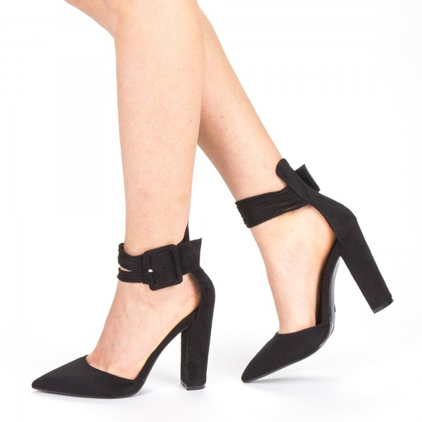 Pantofi cu Toc XD208 Black Mei