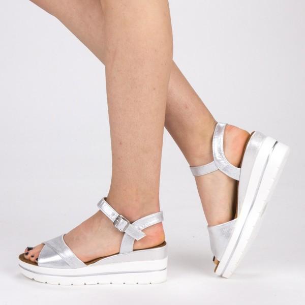 Sandale Dama cu Platforma WT60 White Mei