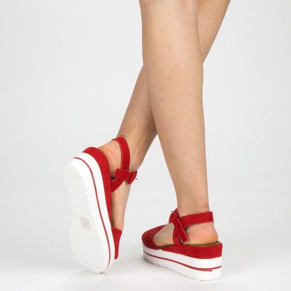 Sandale Dama cu Platforma WT58 Red Mei