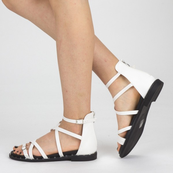 Sandale Dama QZL228 White Mei