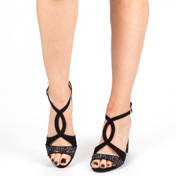 Sandale Dama cu Toc QZL216A Guncolor Mei