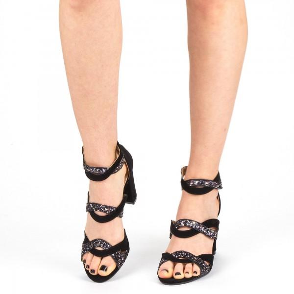 Sandale Dama cu Toc QZL215B Gold Mei