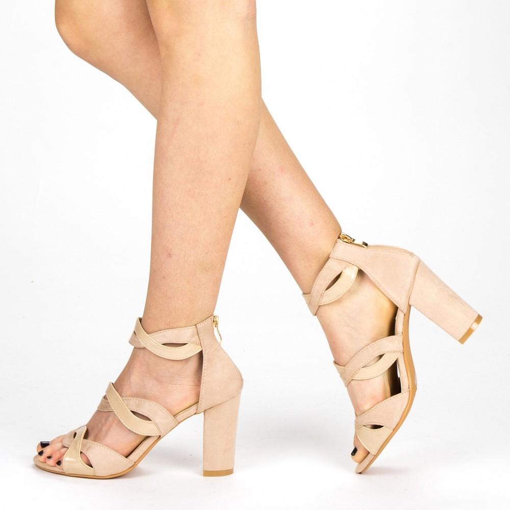 Sandale Dama cu Toc QZL215 Pink Mei