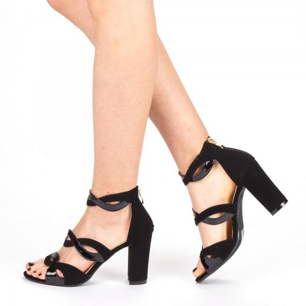 Sandale Dama cu Toc QZL215 Black Mei