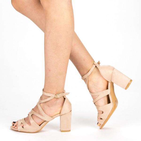 Sandale Dama cu Toc QZL213 Pink Mei