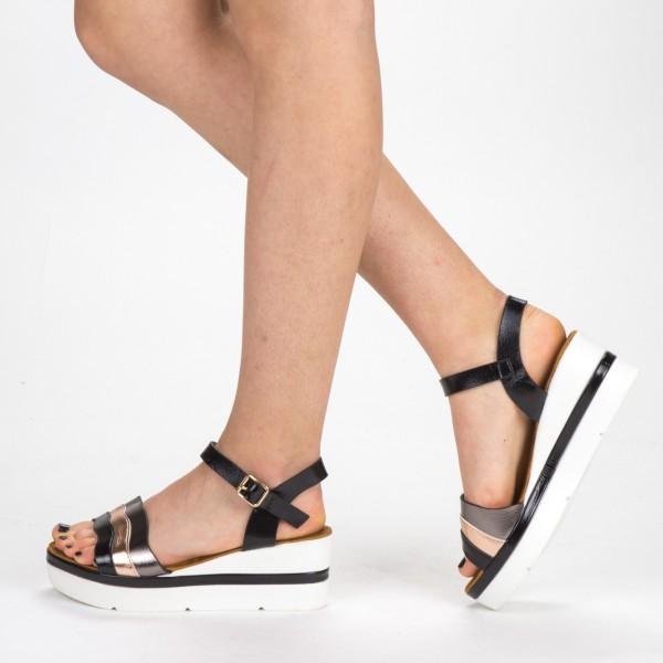 Sandale Dama cu Platforma LM268 Black Mei