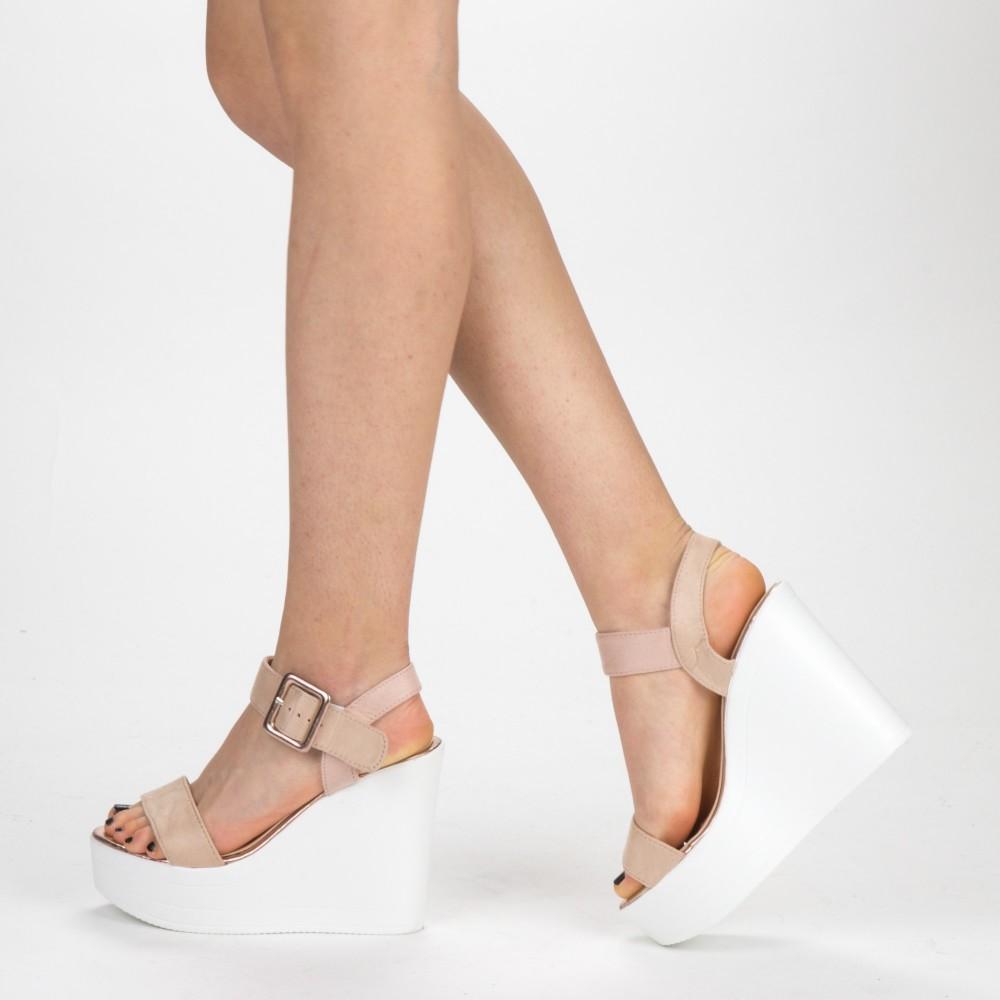 Sandale Dama cu Platforma LM267 Pink Mei