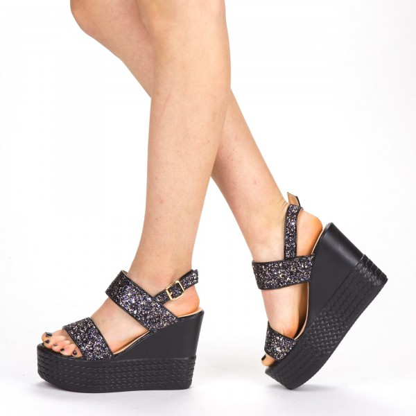 Sandale Dama cu Toc si Platforma LM251 Gold Mei