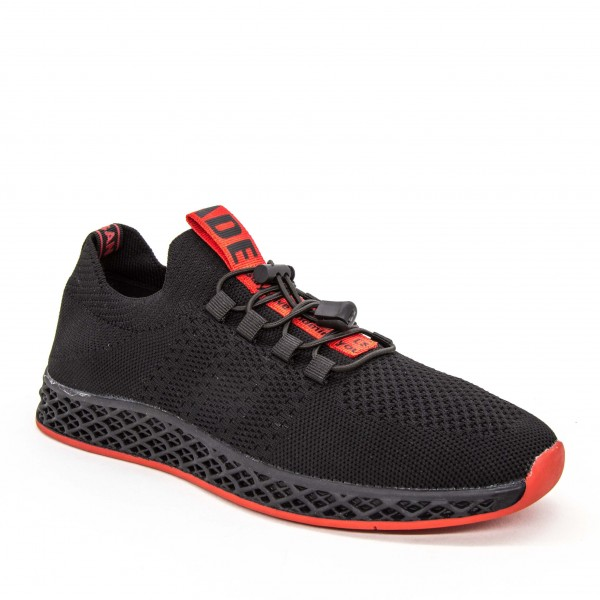 Pantofi Sport Barbati 8133 Black-Red Panter