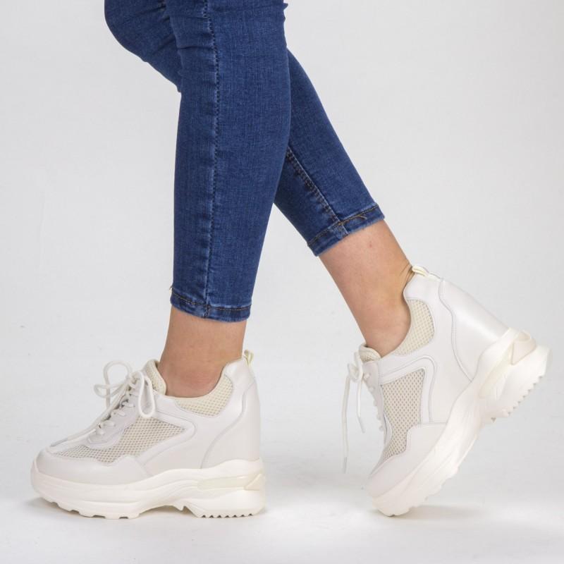 Pantofi Sport Dama cu Platforma SJN266 Beige Mei