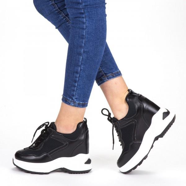 Pantofi Sport Dama cu Platforma SJN266 Black Mei