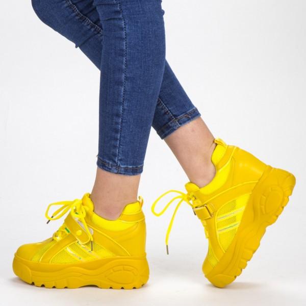 Pantofi Sport Dama cu Platforma SJN265 Yellow Mei