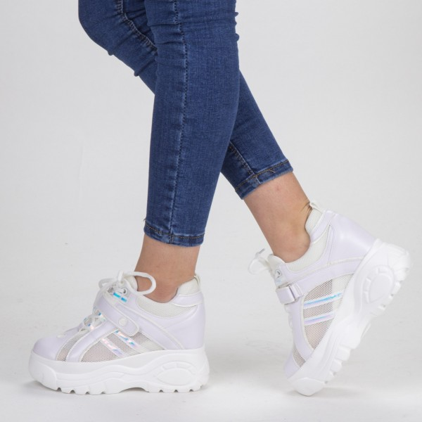Pantofi Sport Dama cu Platforma SJN265 White Mei