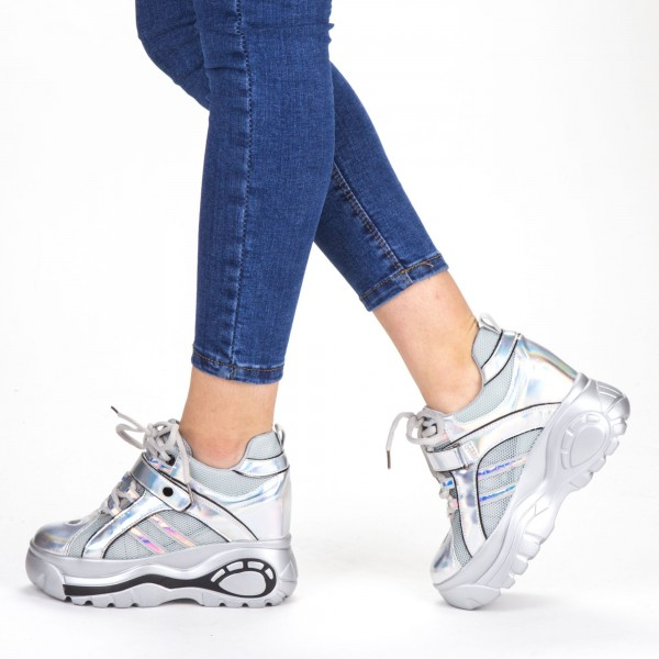 Pantofi Sport Dama cu Platforma SJN265 Grey Mei