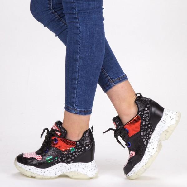 Pantofi Sport Dama cu Platforma SJN262 Black Mei