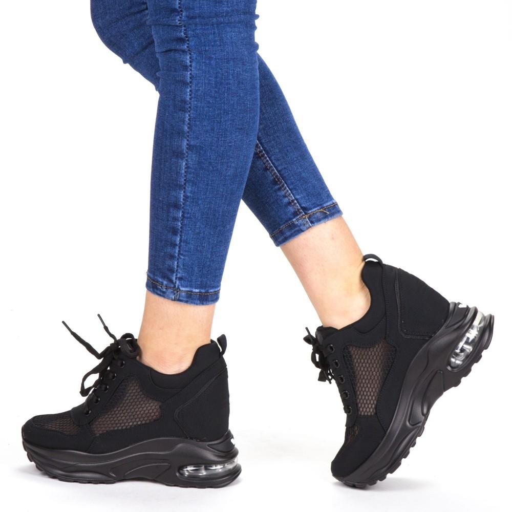 Pantofi Sport Dama cu Platforma SZ173A Black Mei