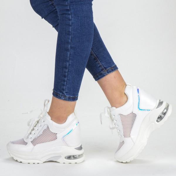 Pantofi Sport Dama cu Platforma SZ173 White Mei