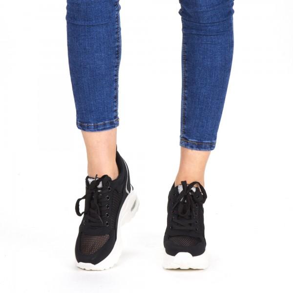 Pantofi Sport Dama cu Platforma SZ173 Black Mei