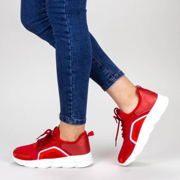 Pantofi Sport Dama cu Platforma YKQ65 Red Mei