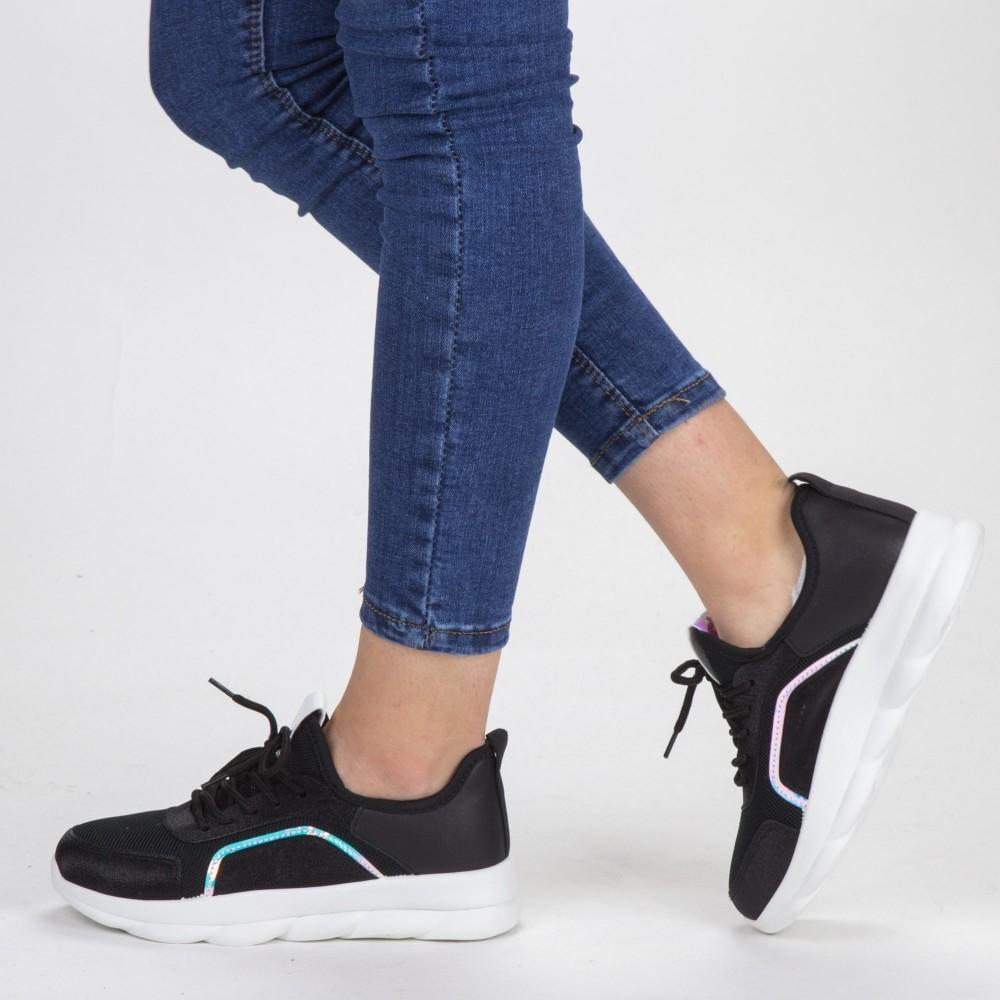 Pantofi Sport Dama cu Platforma YKQ65 Black Mei