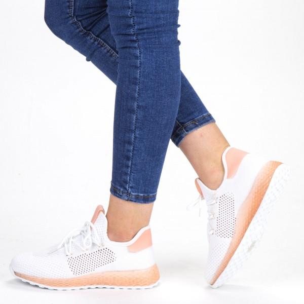 Pantofi Sport Dama YKQ63 White-Pink Mei