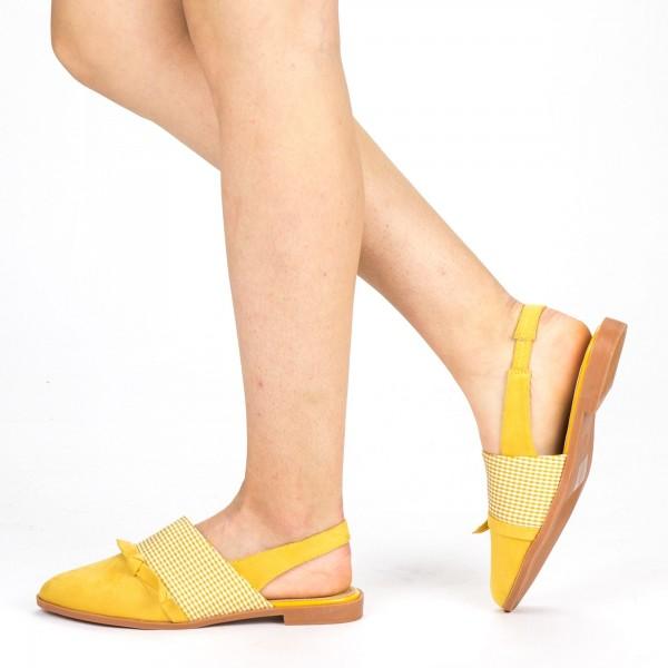 Sandale Dama cu Toc WH23 Yellow Mei
