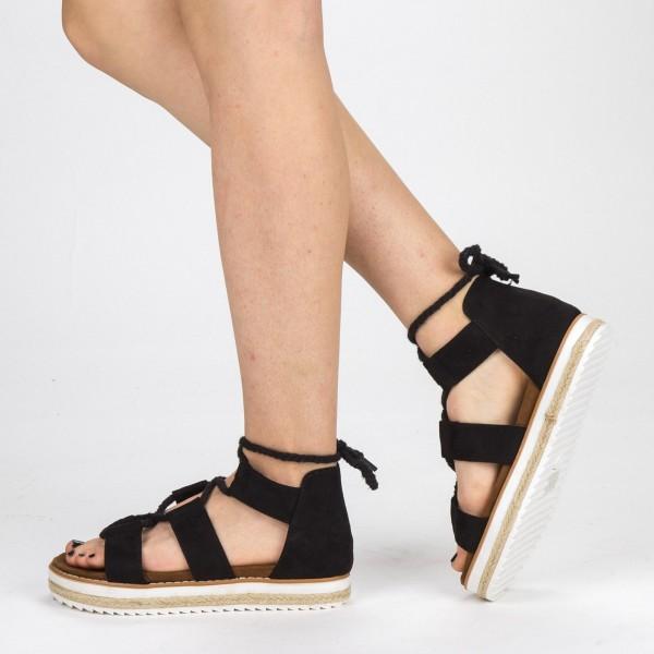 Sandale Dama cu Toc si Platforma MR2 Black Mei