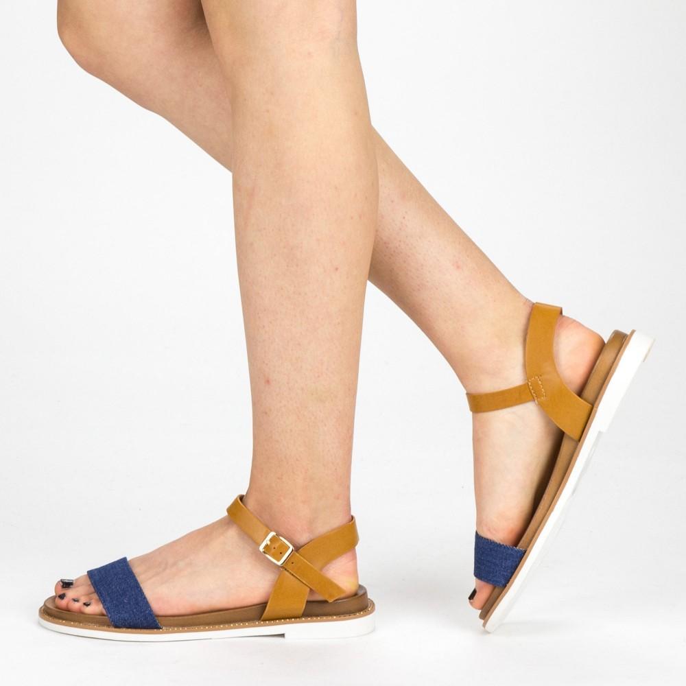 Sandale Dama cu Toc FD51 Blue Mei