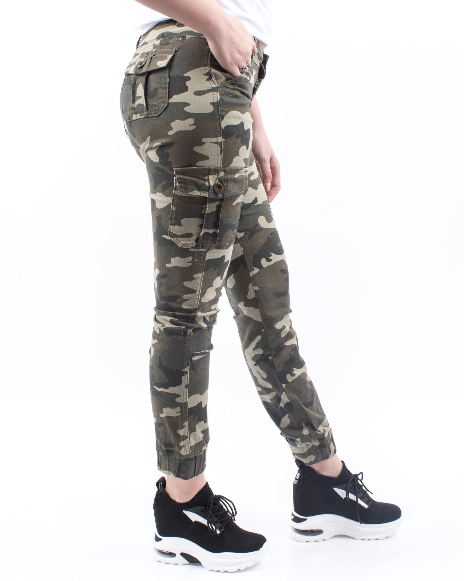 special pentru pantofi pantofi de toamnă cumpărare ieftin Pantaloni Dama HP8152 Verde-Army (208)