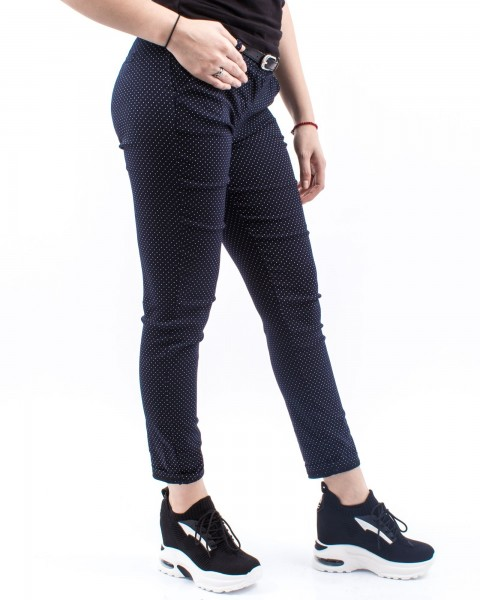 Pantaloni Dama HP7783 Albastru-Alb