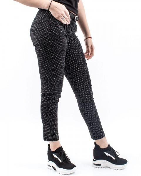 Pantaloni Dama HP7783 Negru-Alb