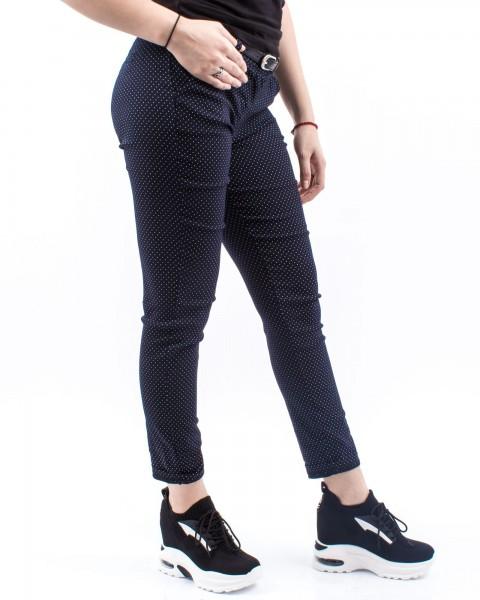 Pantaloni Dama HP7711 BATAL Albastru-Alb