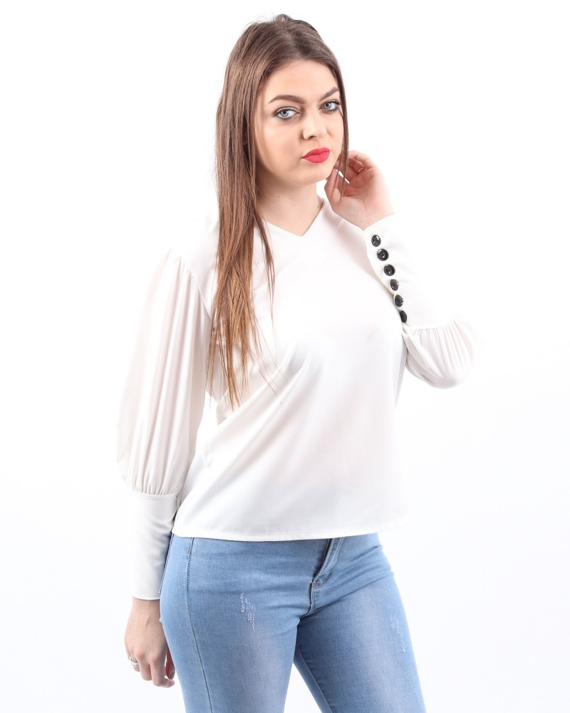 Bluza Dama HB2896 Alb Mei