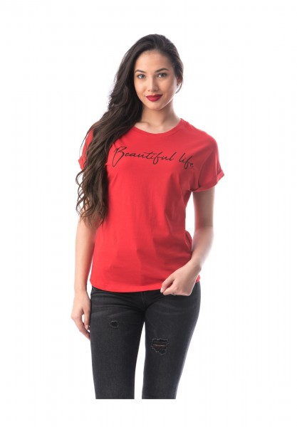 Tricou Dama 8051-2 Rosu Adrom