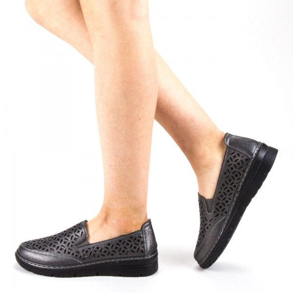 Pantofi Casual Dama S126 Pewter Ggm