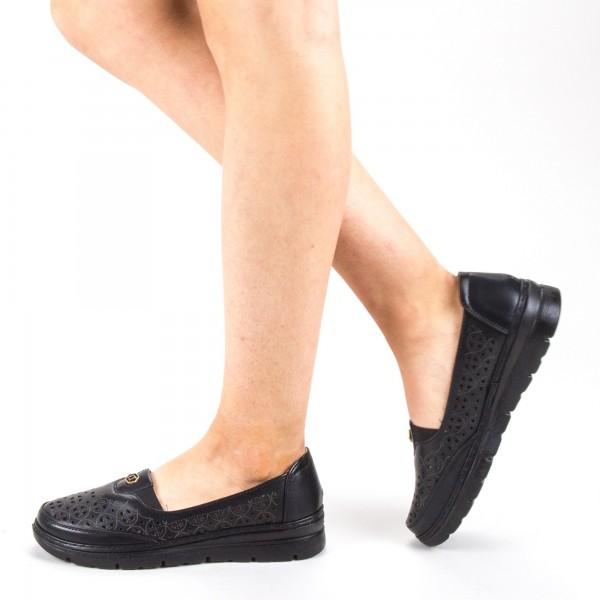 Pantofi Casual Dama S122 Black Ggm