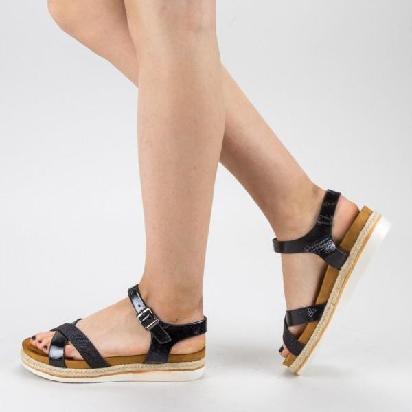 Sandale Dama cu Platforma WT66 Black Mei
