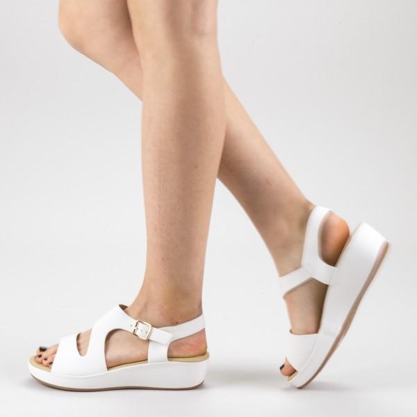 Sandale Dama cu Platforma GH115 White Mei