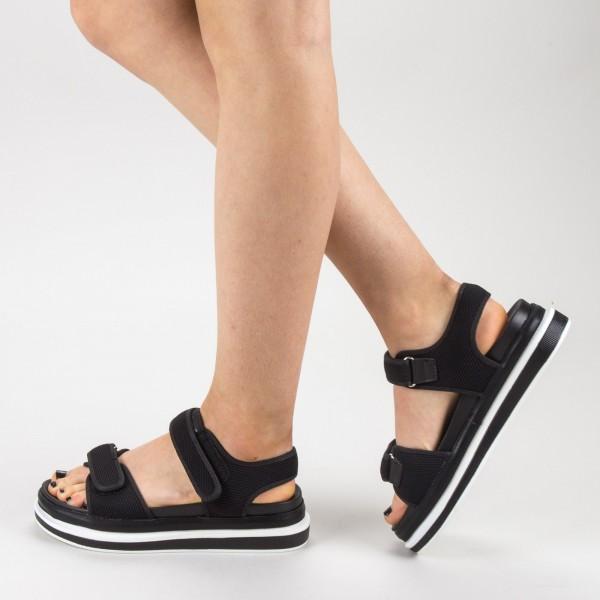 Sandale Dama cu Platforma GH112 Black Mei