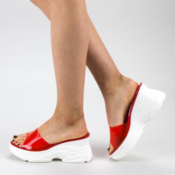Papuci Dama cu Platforma GH111 Red Mei
