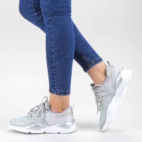 Pantofi Sport Dama 20-692 Silver Wonex