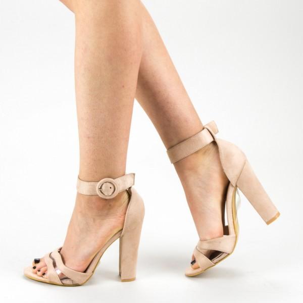 Sandale Dama cu Toc GE30 Beige Mei