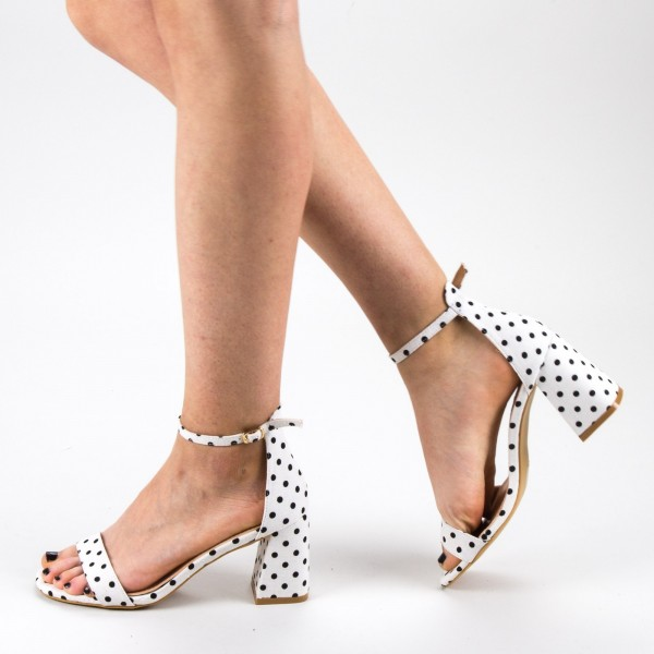 Sandale Dama cu Toc WH15 White Mei